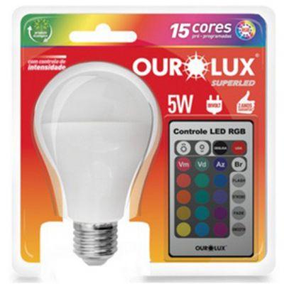 Lampada Led Bulbo 5w  Rgb c/ Controle