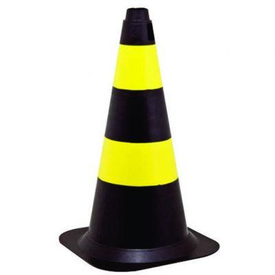 Cone 75cm Am/pr Flex Refletivo