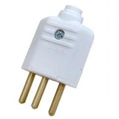 Plug Macho Pld1-3 Pinos 10a Branco