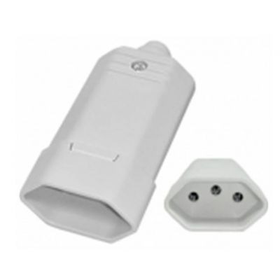 Plug Femea Tmd1-3 Pinos 10a Branco