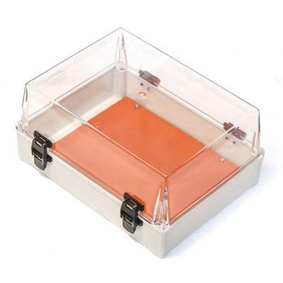 Caixa Plast 35x26x17 Transp Dobradiça
