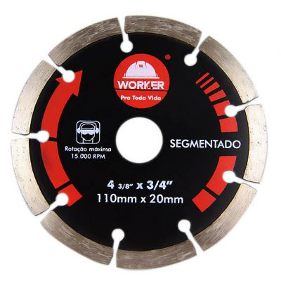 Disco Diamantado 180mm Segmentado Worker