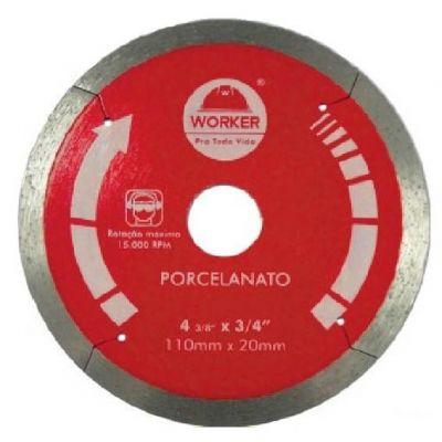 Disco Diamantado 180mm Liso Worker