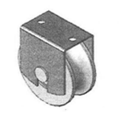Roldana u 60x1.1/4 c/ 2 Rol e Sup Tubo 1/2