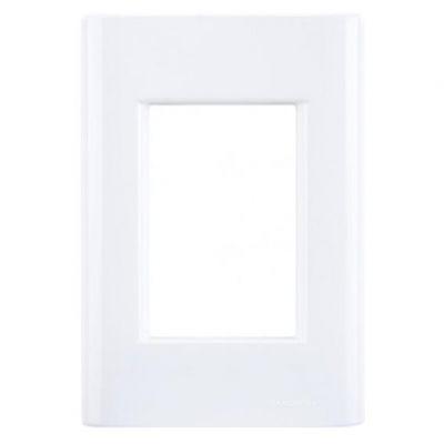 Placa 3 Postos 4x2 Branco Giz