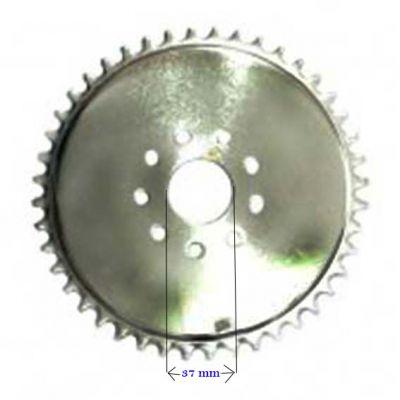 Coroa Transmissão 44d Bicicleta Motorizada Mbk501