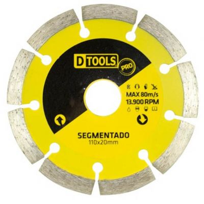 Disco Diamantado 110mm Segmentado Dtools