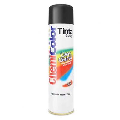 Tinta Spray Preta Brilhante Chemicolor 400ml