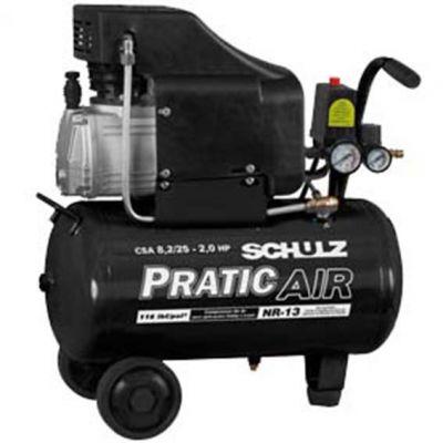 Compressor Schulz Csa-8,2/25l 2,0cv Pratic Air