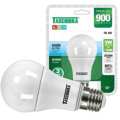 Lampada Led Bulbo 9w 6500k Taschibra