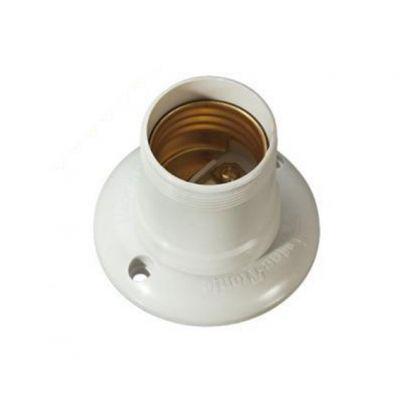 Soquete Porta Lampada Fixo E27 Branco Peesa