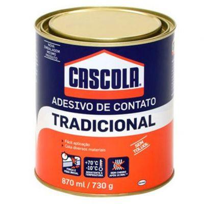 Cola Contato Cascola s/ Toluol 730g Tradicional