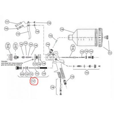 Conjunto Valvula do ar bc 75