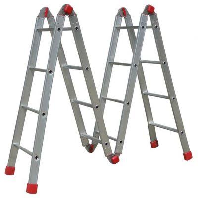 Escada Aluminio 16dx1  4,51m Articulada 4x4 Botafogo
