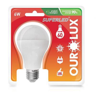 Lampada Led Bulbo 6w 6500k Ourolux