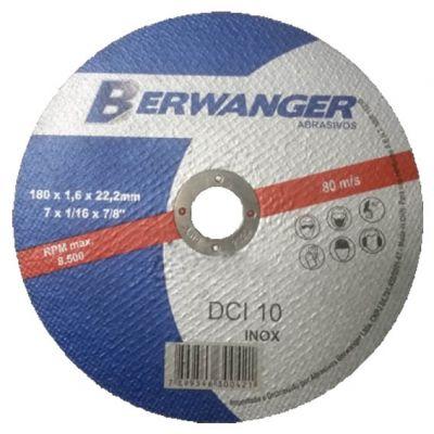 Disco Corte Aço/inox 180x1,6x22,2mm Dci Berwanger