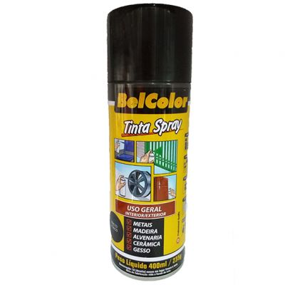 Tinta Spray Preta Brilho Beltools 400ml