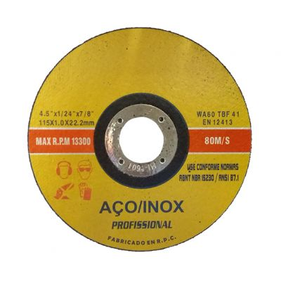 Disco Corte Aço/inox 115x1,0x22,2 Amarelo