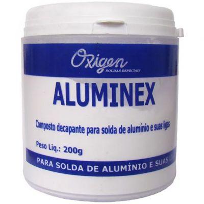 Fluxo p/ Aluminio pó 200gr Aluminex