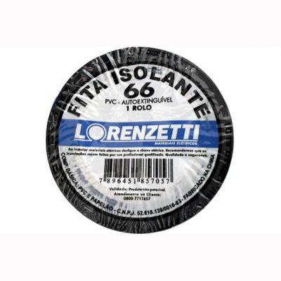 Fita Isolante 10m Preta Lorenzetti