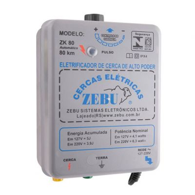 Eletrificador de Cerca Zk80 3,9 Joules