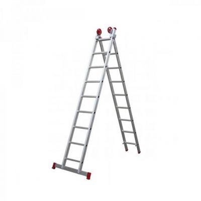 Escada Aluminio 09dx2  4,44m c/ Barra Estabilizadora Botafogo