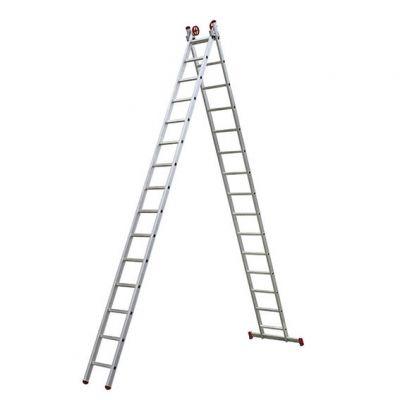 Escada Aluminio 15dx2  7,80m c/ Barra Estabilizadora Botafogo
