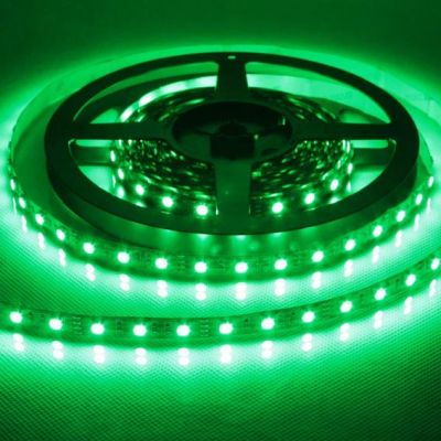 Fita Led 8mm 12v Ip65 Smd3528 c/ 60 Leds Verde