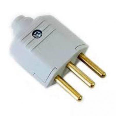 Plug Macho Pld1-3 Pinos 10a Cinza