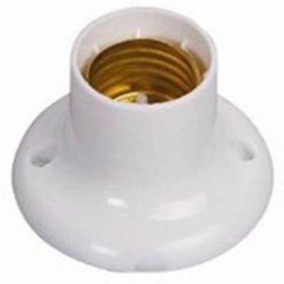 Soquete Porta Lampada Fixo E27 Branco Ilumi