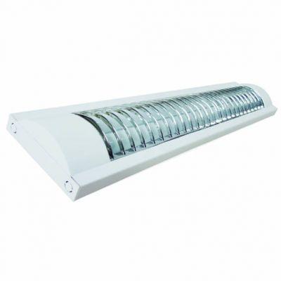 Luminaria Premium  de Sobrepor Aletada p/ Lampada Led 2 x 1200mm