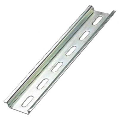 Trilho Din 35 x 7,5 x 2000mm Perfurado Zincado Branco