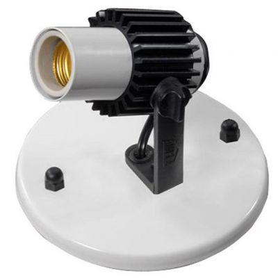 Spot 1 Lampada Branco c/ Aletas Pretas Amplaluz