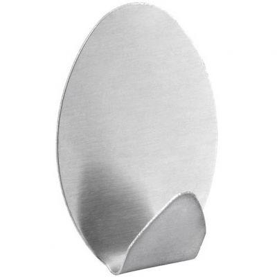 Gancho Inox Adesivo Oval c/ 2pçs Vonder