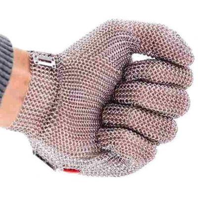 Luva em Malha de Aço Inox 5 Dedos - Anti Corte