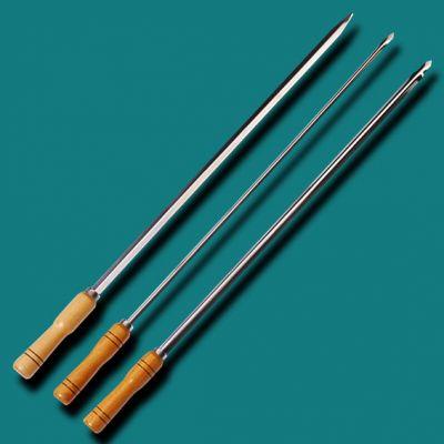 Espeto Simples Aco Inox 800mm x 18mm x 1.2mm - Qualinox