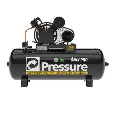 Compressor Onix 20pes 175psi 200l 5cv 2polos Trif Pressure