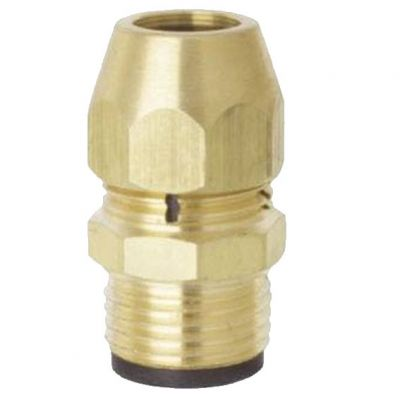 Adaptador p/ Gas 1/2 Bsp(m)  x tm 3/8 (f) - Blukit