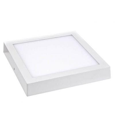 Luminaria de Sobrepor Quad Branca Slim Led 24w 6500k 300x300  Lumanti