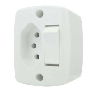 Interruptor Ext Ret Simples c/ Tomada 20a br - Ilumi