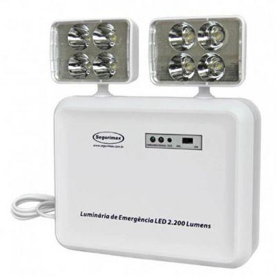 Luminaria Emergencia c/ Bateria 2200 Lumens 2 Farois Led Segurimax