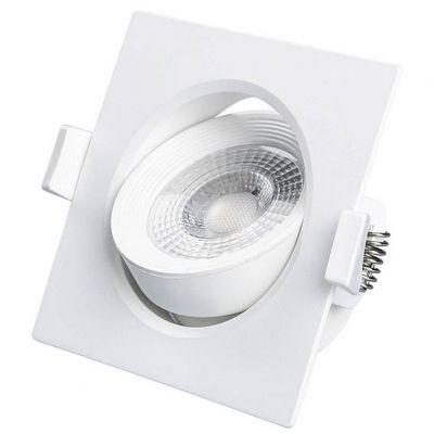 Luminaria de Embutir Tipo Spot Quad Branco Led 7w 3000k Lumanti