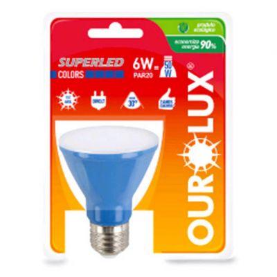 Lampada Superled Par20 6w Azul