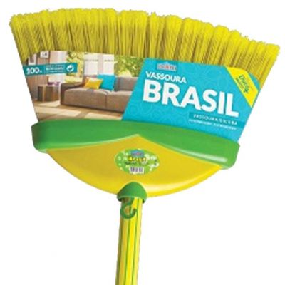 Vassoura Brasil c/ Cabo Amarelo 1,2m  Odim