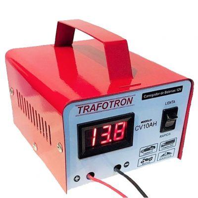 Carregador Bateria 10a 12v Cv10 c/ Visor Trafotron