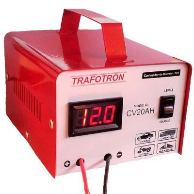 Carregador Bateria 20a 12v Cv20 c/ Visor Trafotron
