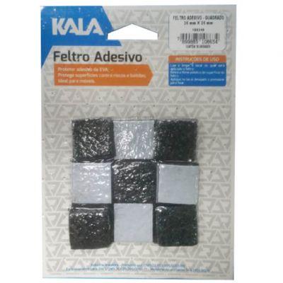 Feltro Adesivo Quad 25x25mm Carpete 16pçs Kala