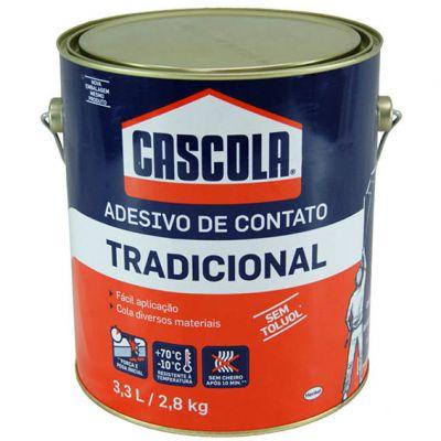 Cola Contato Cascola s/ Toluol 2,8kg Tradicional