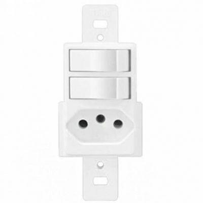 Modulo 2 Interruptor 1 Paral c/ Tomada 20a Lumibras