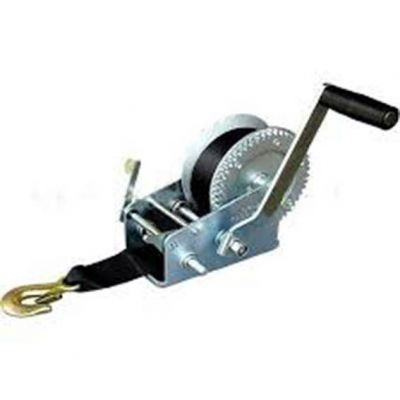 Guincho Catraca Manual c/ 7m Cinta p/ 362kg Boat Winch